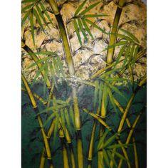 Lukisan Objek Hutan Bambu  Tinggi: 80cm  Lebar: 60cm  Bahan: Canvas  Sangat cocok sebagai pajangan di ruang kerja,ruang utama maupun ruang tamu.  Lukisan yg sangat indah dan juga menawan. Saat pengiriman akan menggunakan Pipa Paralon ( Selama persediaan masih tersedia ), Lukisan digulung dan dimasukkan ke dalam pipa, agar aman saat pengiriman.