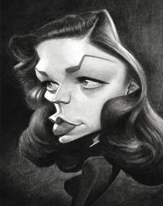 Undo the Dry Spell: Traditional Art 5  Lauren Bacall by Thierry Coquelet