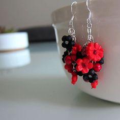 Blume Blüte Ohrringe  Ohrringe Cluster  handgefertigte