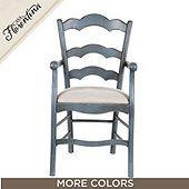 Genoa Armchair with Linen Seat
