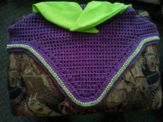 Purple with lime green stretch ears, lime green cord and Preciosa Rhinestones More info at http://www.funbonnets.com