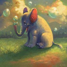 animals in art: elephants
