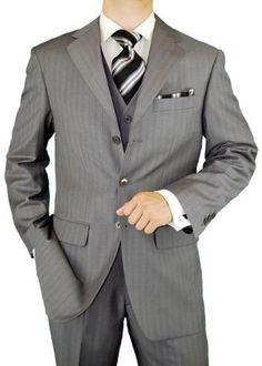 Gino Valentino Made in Italy Vested Wool Silk 3 Button Jacket Grey Stripe, http://www.amazon.com/dp/B002NRKLJ8/ref=cm_sw_r_pi_awd_yGrksb0M8YFTV