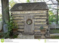 A Small Rustic Stone And Log Cabin In The Country Stock Image - Image of tiny, shed: 54783457 Rustic Stone, Wood Stone, Log Cabin Homes, Log Cabins, Wood Nymphs, Rustic Cabins, Cabins And Cottages, Workshop Ideas, Primitive Decor