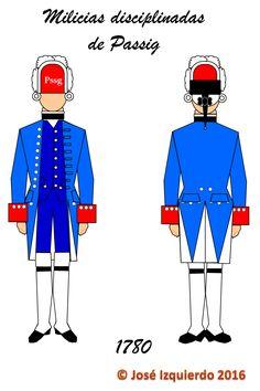 Milicias disciplinadas de Passig, 1780