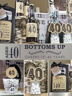 Bottoms up! 40th Birthday Party Ideas for Guys #AdultBirthday