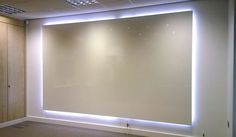 We were asked by Primeast, performance improvement specialists based in Harrogate, if as part of an order for our ThinkingWall frameless whiteboard if LED lighting could be included to create a backlit whiteboard. The requirement was for a soft glow of li Contemporary Bathroom Lighting, Modern Bathroom Faucets, Bathroom Design Small, Bathroom Interior Design, Bathroom Bin, Bathroom Furniture, Office Furniture, Bathrooms, Home Confort