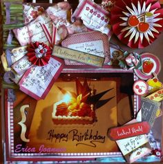 Happy Birthday My Scrapbook, Scrapbooking, Happy Birthday, Gift Wrapping, Baking, Blog, Gifts, Happy B Day, Paper Wrapping