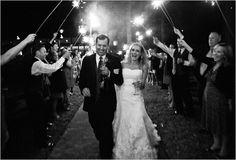 love wedding fireworks
