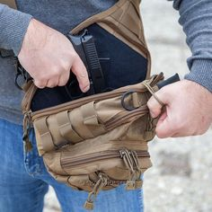 The cargo explorer bag is a perfect concealed carry option that offers a deep concealment, extended comfort and different ways of carry. Concealed Carry Bags, Cool Gear, Holsters, Fanny Pack, Edc, Carry On, Messenger Bag, Prepping, Novels