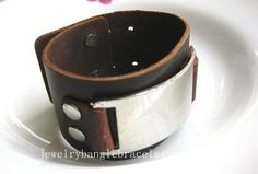 bangle leather bracelet buckle bracelet men by jewelrybraceletcuff, $9.00