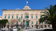 SIGHTS. Auberge De Castille. The Auberge de Castille is located within the city of Valletta and houses the office of the Prime Minister of Malta.