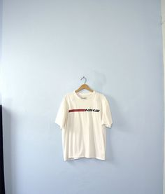 Vintage 90's white Nike minimalist shirt Nike top / by manorborn