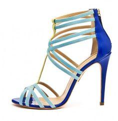 Sandali in color block Dalla collezione primavera estate 2013 di scarpe Aquazzurra