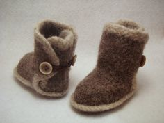 Felted Baby Booties.