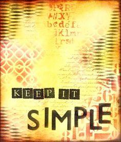 Art Journal ~ Keep it Simple (Marjie Kemper)