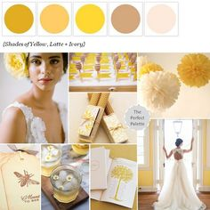 Meant to 'Bee' | Shades of Yellow, Latte + Ivory http://www.theperfectpalette.com/2013/06/meant-to-bee-shades-of-yellow-latte.html