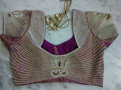 maggam work blouse with pearls