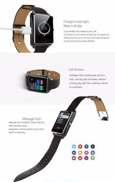 Original BLUBOO Uwatch 1.44 inch 2.5D Arc Touch Screen Multifunctional Smart Watch