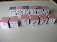 Baby Photo Prop - Monthly Pictures - Wooden Number Blocks. $36.00, via Etsy. Newborn photo. Maternity photo. Pregnancy photo