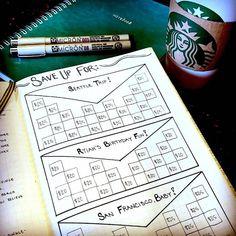 Bullet Journal Savings Tracker Ideas – Finance tips, saving money, budgeting planner Bullet Journal Budget, Bullet Journal Savings Tracker, How To Bullet Journal, Bullet Journal Inspo, Bullet Journal Layout, My Journal, Bullet Journals, Journal Pages, Debt Tracker