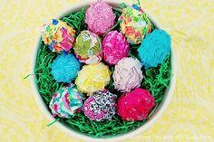 DIY Easter : DIY Ruffled Fabric Easter Eggs