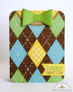 Snippets By Mendi: Doodlebug Design Masculine Sweater Vest & Bow Tie Father's Day Card