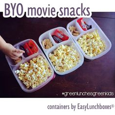 Bring Your Own Movie Snacks by Green Lunches, Green Kids | Containers by @easylunchboxes