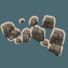 Props - Low Poly Rock Formation 03
