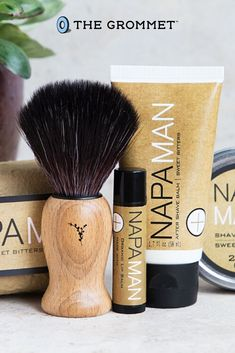 The NapaMan Gift Set is handmade in Napa Valley and contains everything needed for a great, subtle shave. Presented in a giftable kraft box, the travel sizes make it easy to smell and look great on the go. This is a great-smelling gift for husbands, brothers, and every other father this Father's Day.