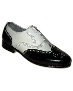 4c3721e33fb9 Aris Allen Mens Black and White Spat Style Spectator WingTip Swing Styled  Dance shoes with Leather Sole