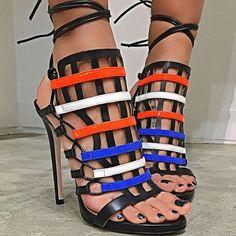 Ruthie Davis Leather Gladiator Sandals