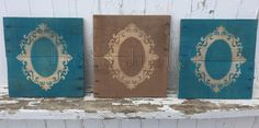 Wood Wall Picture Frame by JesszJunk on Etsy
