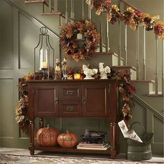 48 Beautiful Entry Table Decor Ideas to Updating Your House Fall Entryway Decor, Fall Home Decor, Autumn Home, Diy Halloween Home Decor, Halloween House, Fall Halloween, Halloween Table, Halloween Ideas, Halloween Decorations