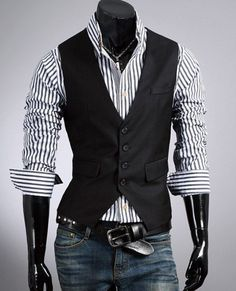 New Years 2014 - Fashion Classic Stylelish Gentleman Mens Vest Custom made 1011... I would definitely wear that vest. #MensFashionVest