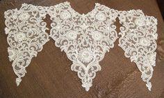 Wedding Dress Applique Ivory Beaded Bridal Dress by gebridal