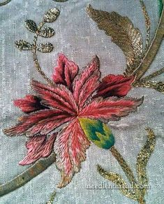 silk embroidery + goldwork