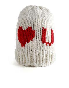 Love U Beanie | Women | Knitting Kit | WOOL AND THE GANG