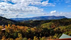 Fall view from the deck of Nothin But A Good Time...SPECTACULAR