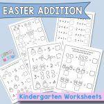 Easter Addition to Ten - Kindergarten Worksheets Kindergarten Addition Worksheets, Help Teaching, Math Skills, More Fun, Easter, Easter Activities