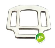 """1"""" Zinc die cast halter square with three slots for horse riding/horse racing (Halter-A)"""