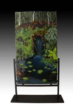 The Grotto by Hidden Glass Studio Fused Glass, Stained Glass, Art Studios, Landscapes, Art Gallery, Interior Design, Nature, Trees, Construction