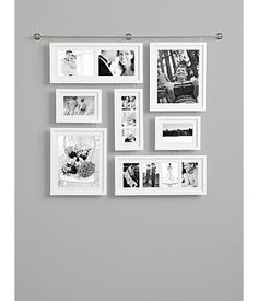 Wall Gallery Frame Set this wall gallery fills up the space with frames in a clustered
