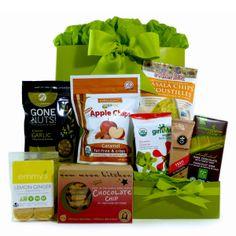 Healthy Gourmet Gifts - Snacks on the Run Vegan, $74.00 (http://www.healthygourmetgifts.com/snacks-on-the-run-vegan-organic-and-all-natural/)