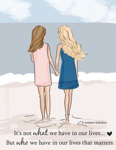 Best Friends - It's Not What We Have But Who We Have in Our lives - Sisters -  Tween Sister Friend Wall Art -- Print by RoseHillDesignStudio on Etsy https://www.etsy.com/listing/385862610/best-friends-its-not-what-we-have-but