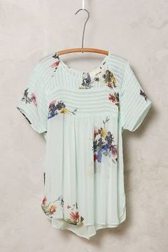 One Fine Day Springtide Pintuck Blouse #anthrofave