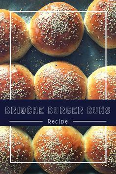 Brioche Burger Buns - die besten hausgebackenen Burgerbrötchen - Ein Häppchen Liebe
