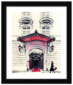 Paris Hotel Royal Monceau Giclee Print of by LauraRowStudio