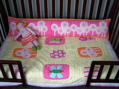 Upcycle a bumper pad into a long pillow for a toddler bed.