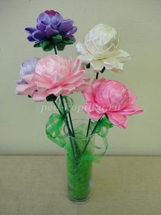 Flowers of satin ribbons with their own hands. Master class with step by step photos